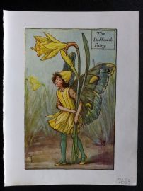 Cicely Mary Barker 1940s Flower-Fairy Print. Daffodil Fairy. Narcissus